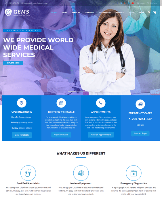 medical wordpress themes for doctor clinics