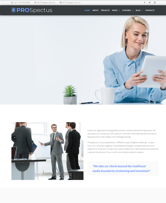 wordpress themes for marketing and advertising agencies