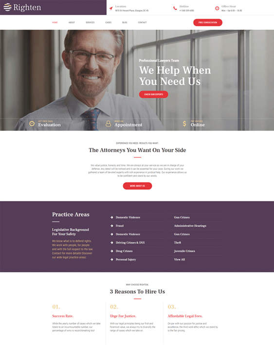 wordpress themes lawyers attorneys law firms