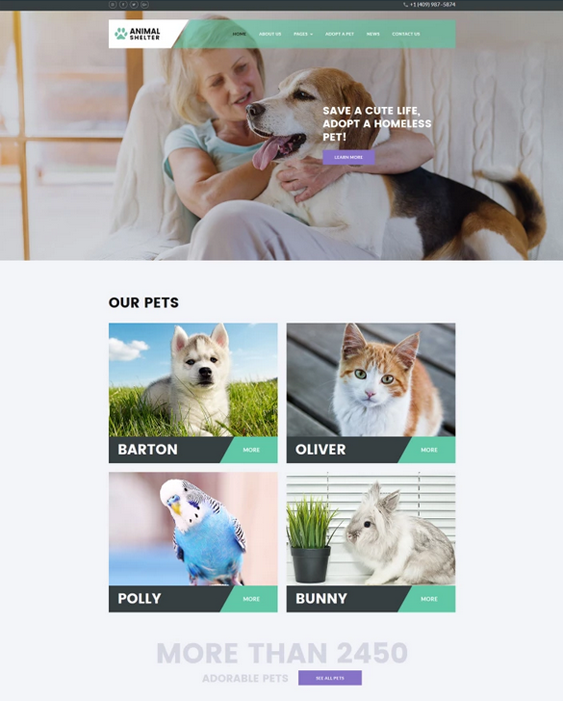 joomla templates for pets and vets