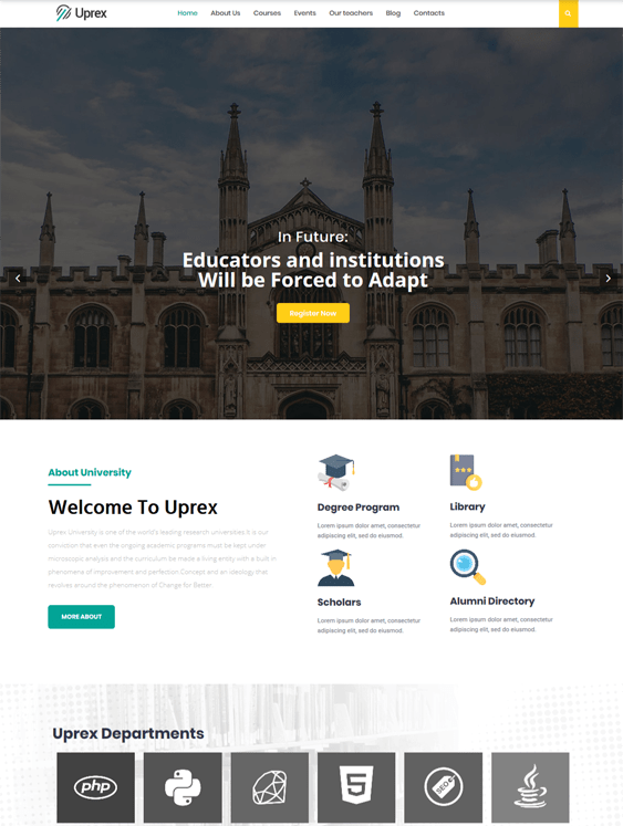 education wordpress themes for classes schools