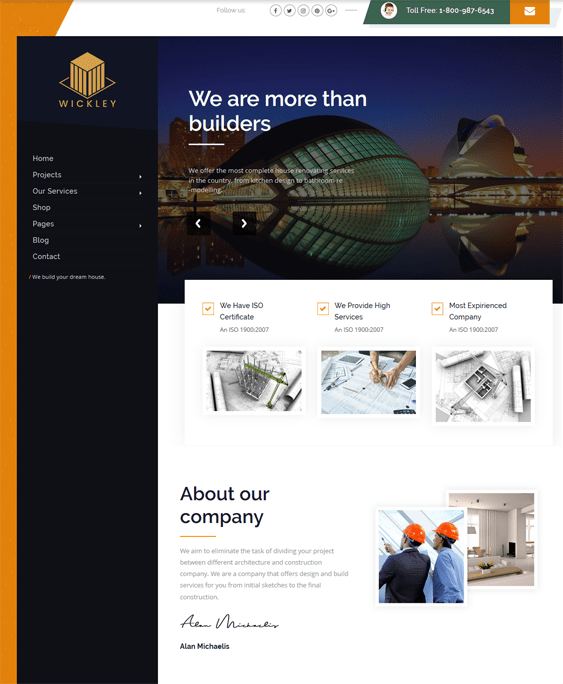 joomla templates for construction companies