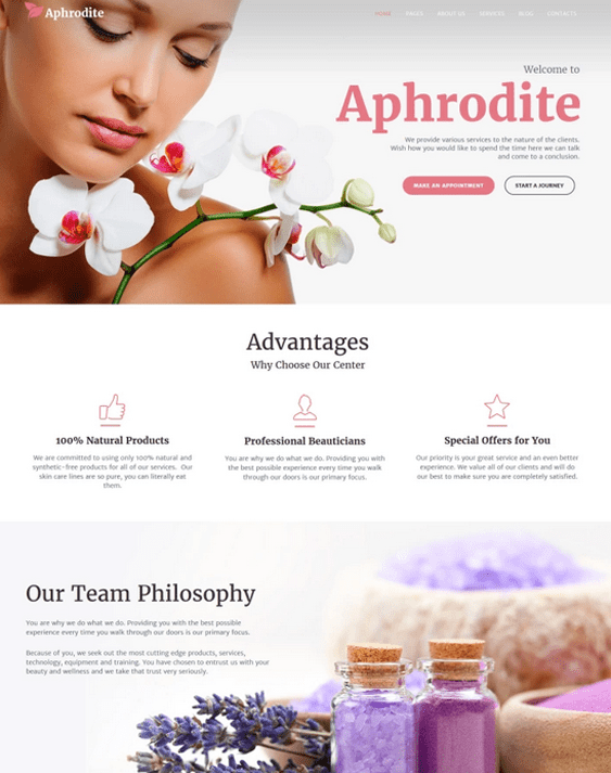 wordpress themes beauty salons spas