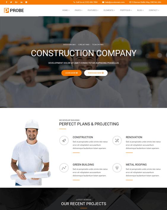 joomla templates for construction companies building contractors