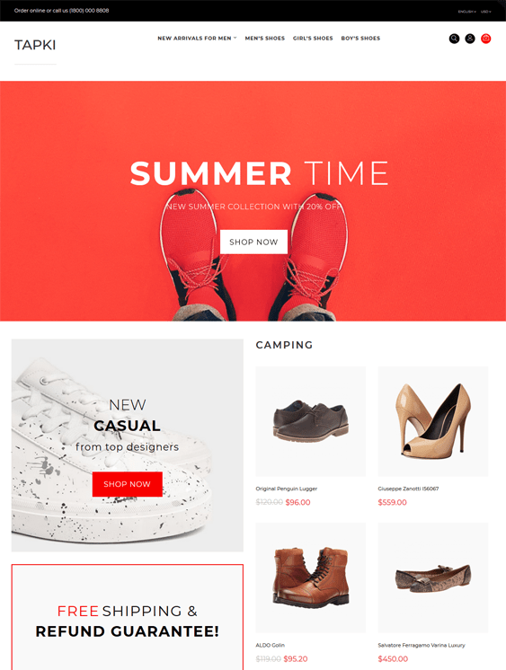opencart themes for selling shoes footwear