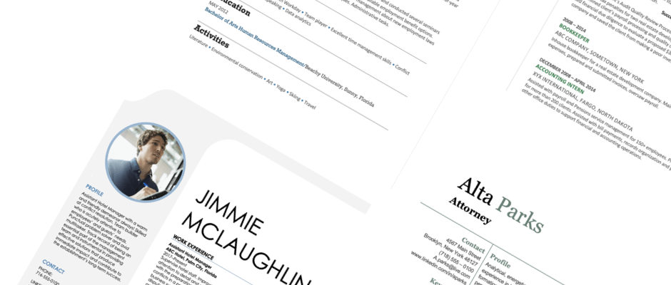 You'll find a variety of free resume samples and examples right here. Resume Templates