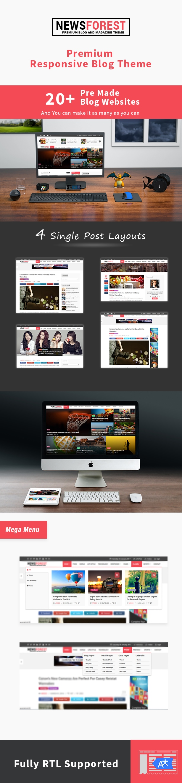 NewsForest - Magazine / Blog WordPress Theme