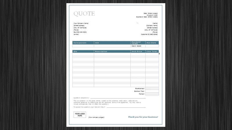 Free Quotation Templates For Word Google Docs Templates Vip