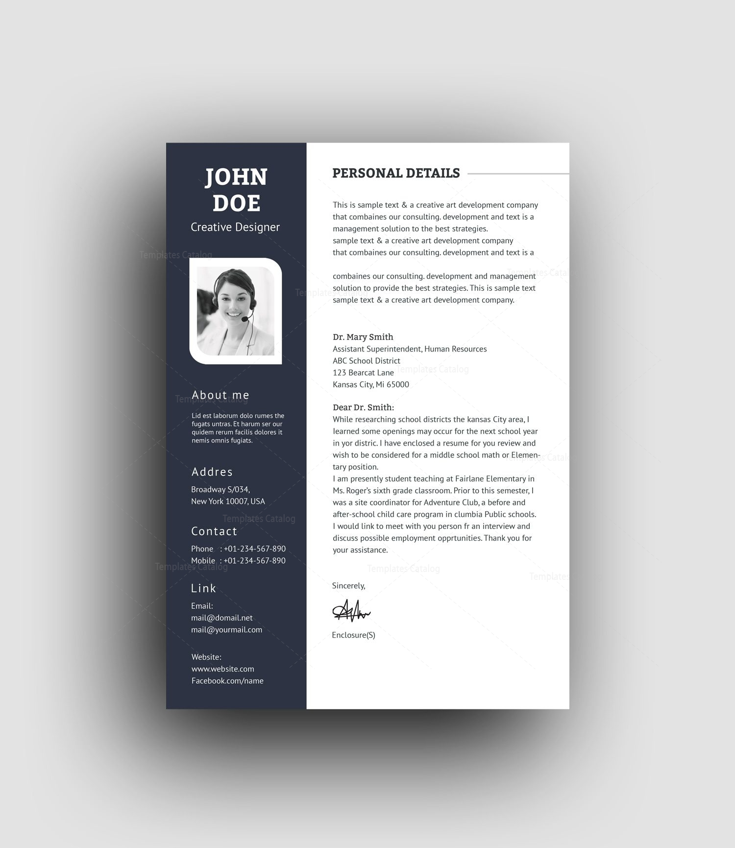 Resume Psd Template Psd Elegant Professional Resume Template 001457 Template
