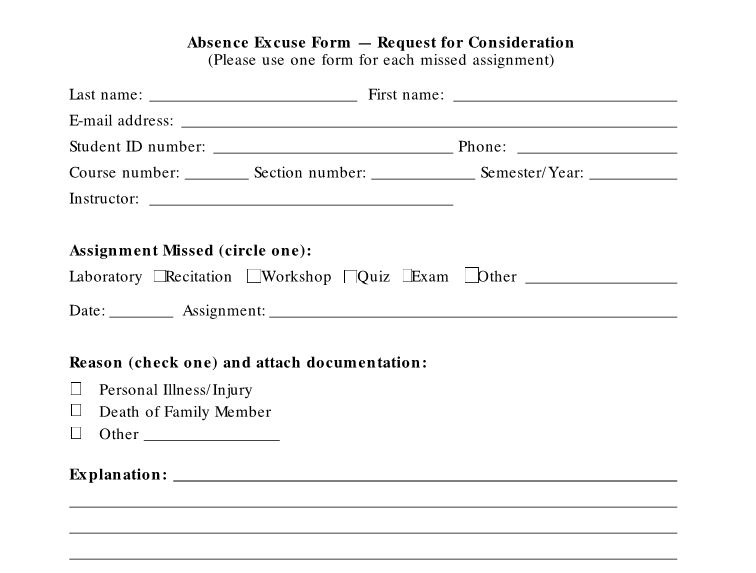 Free Doctor's Note/Excuse Note Templates- Template Section