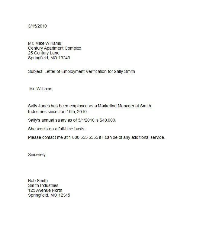 Elegant Download Template Regarding Employment Verification Letter Template Word