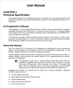 Software User Manual Template Word | Free User Manual Templates Word Template Section