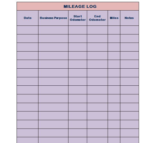 We Are Providing Mileage Templates In Word Format And In Excel Format For  Our Usersu0027 Convenience.