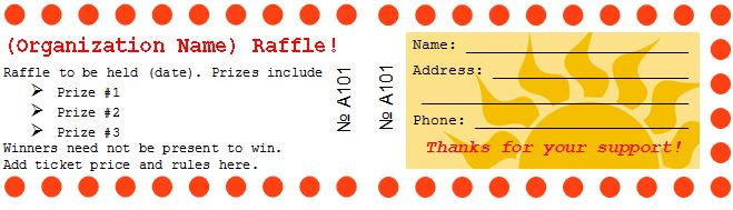 Free Raffle Tickets-Movie Tickets-Templates-Word – Template Section