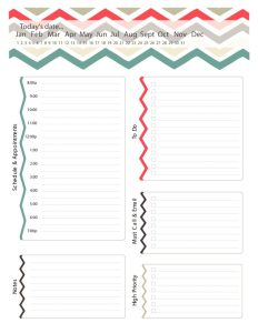 Free daily planner templates excel pdf template section download daily planner template pronofoot35fo Images
