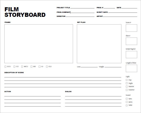 graphic regarding Printable Storyboard identified as Cost-free Storyboard Templates - PDF Term Samples Illustrations
