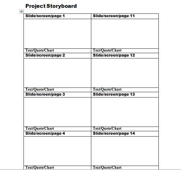Free Storyboard Templates - PDF Word Samples & Examples - Template ...