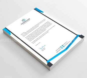 Clean Corporate Letterhead Template