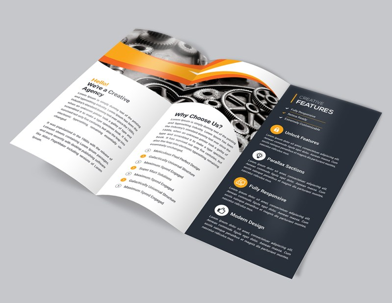Corporate Business Trifold Brochure Template