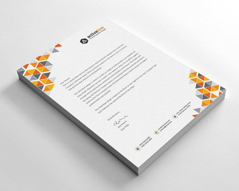 Premium Corporate Letterhead Template