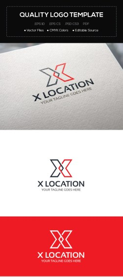 X Location Logo Template
