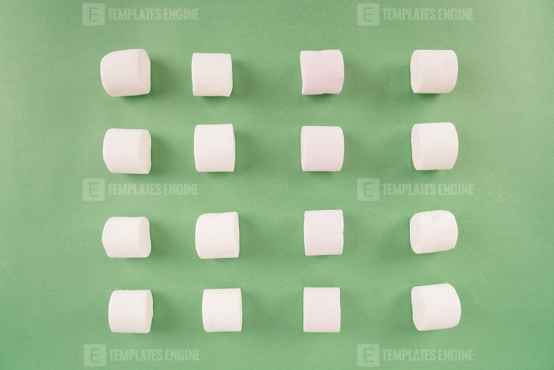 Pattern with marshmallow candies stock photo