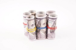 Stock Photo Rolls of Banknotes