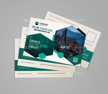 Clean Corporate Postcard Design