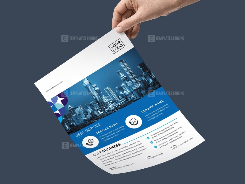 PSD Service Business Flyer