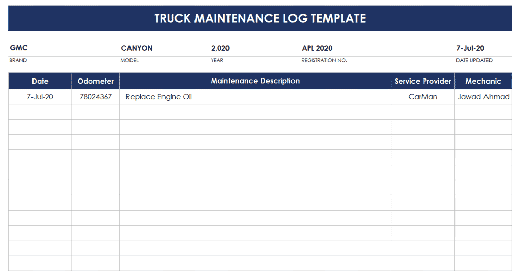 Seasoned blogger read full profile regular maintenance of a vehicle can really make all of the difference in longevity and overall. Best Free Fleet Maintenance Spreadsheet Excel Fleet Service Logs