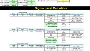 Six Sigma Calculator