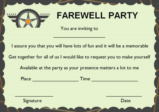 Office Farewell Party Invitations