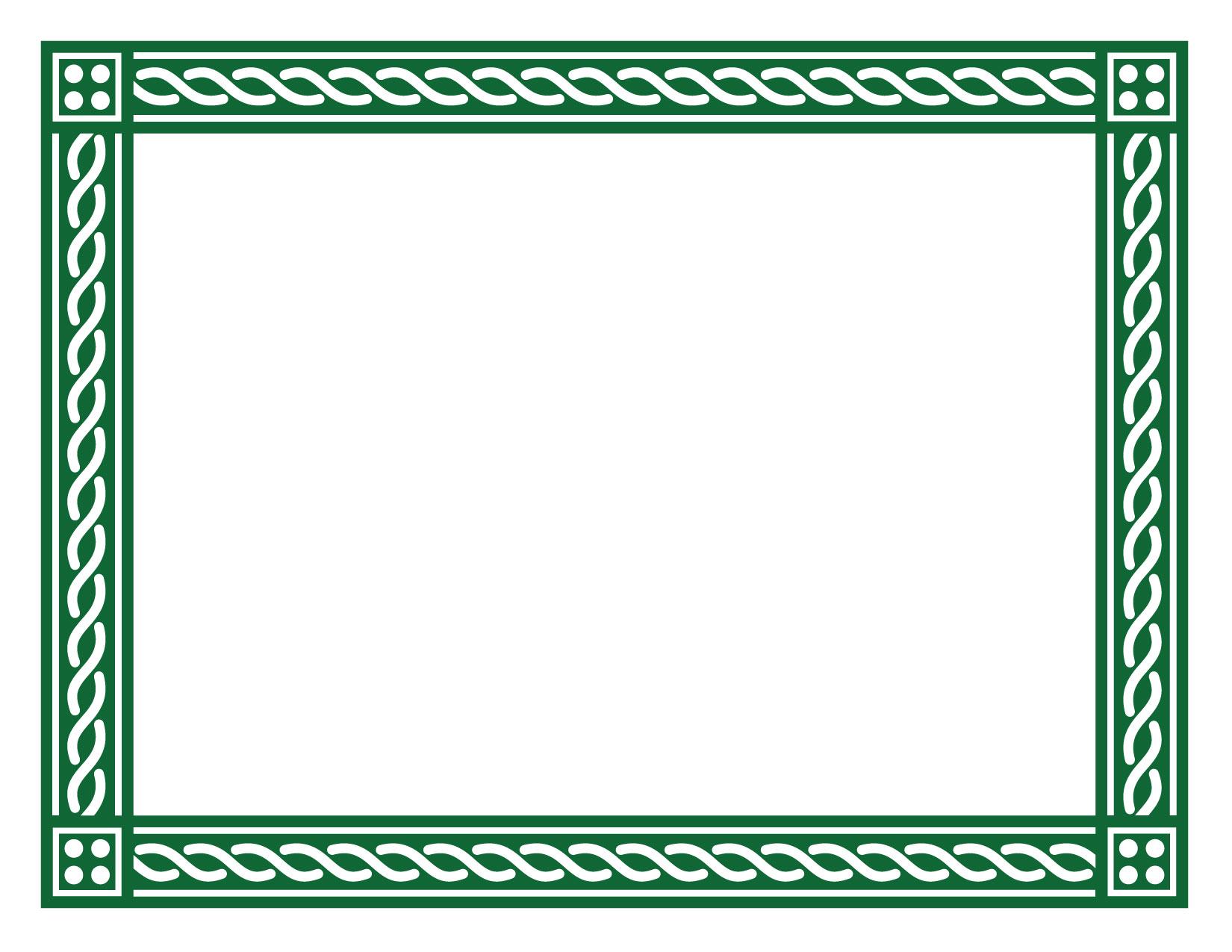 green border certificate paper