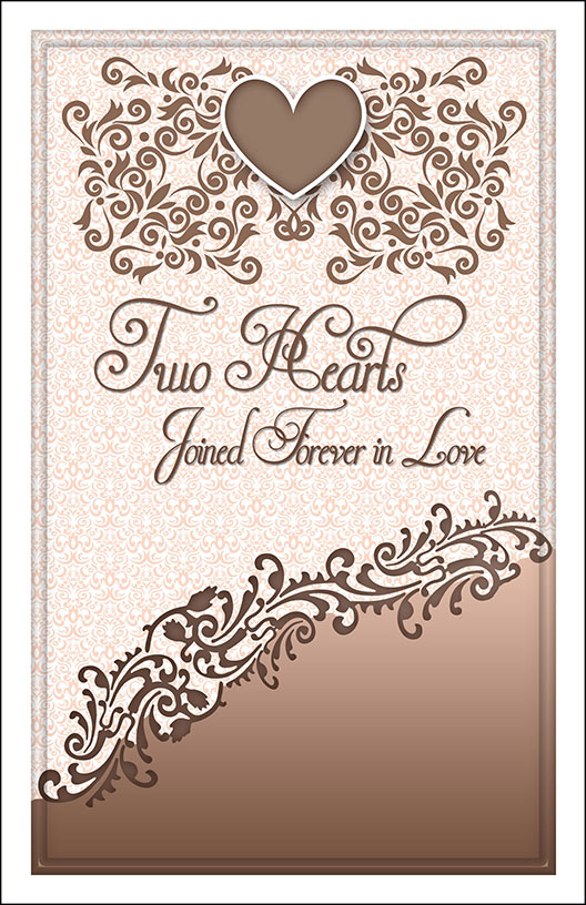 Wedding Program Cover Template 12D