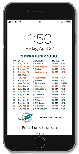 Buffalo Bills Iphone Wallpaper 2019 2020 Miami Dolphins Lock Screen Schedule For Iphone 6