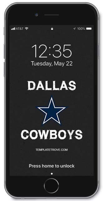 Iphone Cowboys Wallpaper 2018 2019 Dallas Cowboys Lock Screen Schedule For Iphone 6
