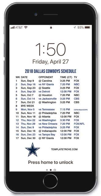 Iphone 7 Plus Lock Screen Wallpaper 2018 2019 Dallas Cowboys Lock Screen Schedule For Iphone 6