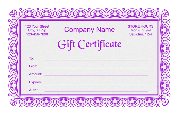 free gift certificate template download