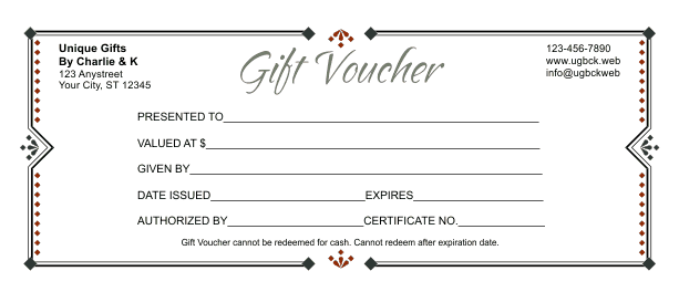 word template voucher
