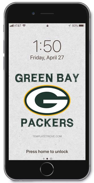 2018 2019 Green Bay Packers Lock Screen Schedule For