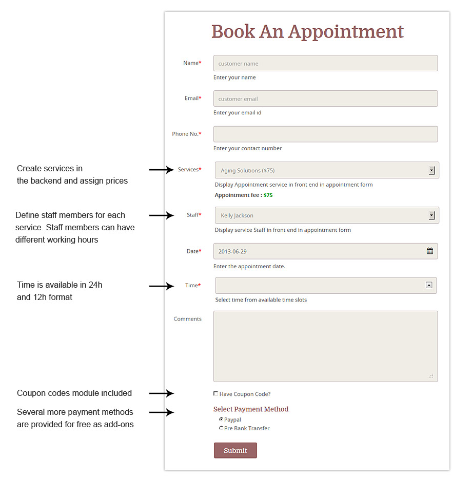 Appointment Booking WordPress Theme 2018 Service Biz