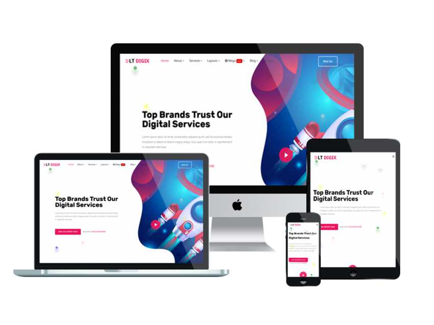 An effective digital marketing plan is key for growing your small business. LT Digix - Free Digital Marketing website templates