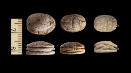 Egyptian scarabs found in the Temple Mount soil by the Sifting Project