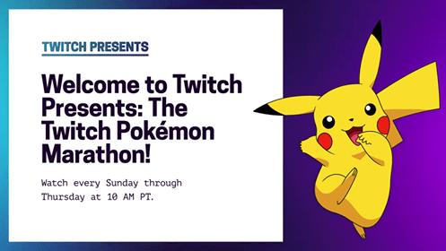 Pokémon Marathon Now Streaming On Twitch Presents