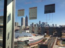 Brainstorming on the windows.