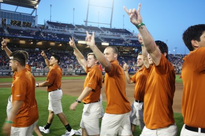Hook 'em, Horns! The Longhorns walked out to resounding boos -- and loved every second of it.