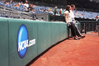 Katy and Doug took in the first BP at TD Ameritrade Park.