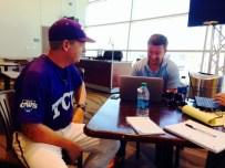 Doug talks to Coach Jim Schlossnagle of TCU on Media Day.