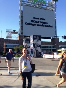 Hanging outside TD Ameritrade Park before the Opening Ceremonies.