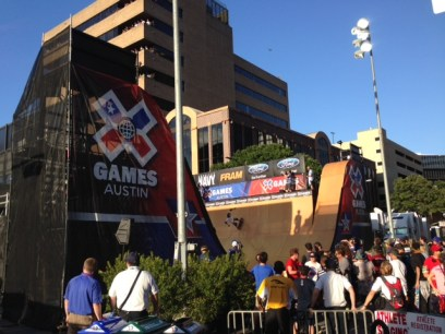 Not a bad way to spend my first night in Texas -- XGames Austin.